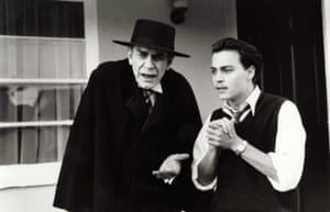 With Johnny Depp in Ed Wood, directed by Tim Burton
