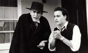 Landau, left, with Johnny Depp in Ed Wood.