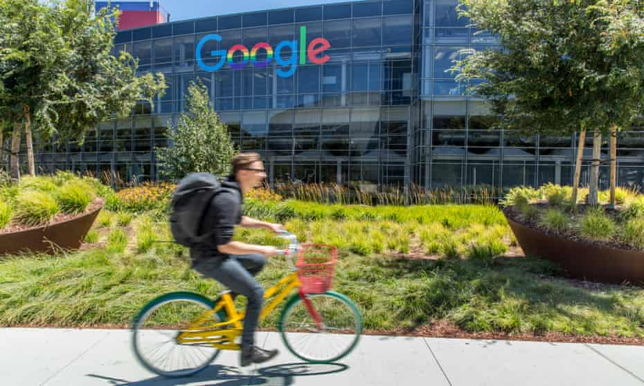 Google's headquarters in Silicon Valley. The bill is indented to bridge America's deep digital divide.