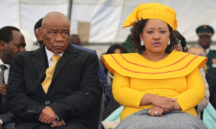 Former Lesotho prime Minister Thomas Thabane and his wife Maesaiah Thabane in 2017.