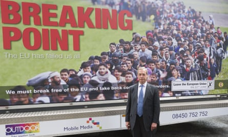 Nigel Farage launches Ukip's latest poster