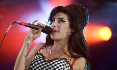 Winehouse performing in London, July 2007.