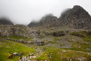 Climbers, botanists and geologists set out from the Charles Inglis Clark memorial hut to scale the ridges and buttresses of Ben Nevis, Britain's highest mountain.