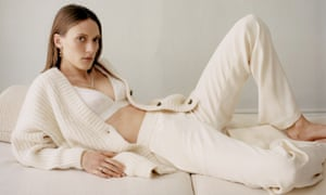 "A loungewear look from Matchesfashion. Their buyer Natalie Kingham says that customers have been buying ""smarter pyjamas that can be worn for longer ...  knitwear and wide-leg pants or active-wear."""