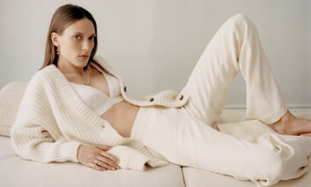 """A loungewear look from Matchesfashion. Their buyer Natalie Kingham says that customers have been buying """"smarter pyjamas that can be worn for longer ...  knitwear and wide-leg pants or active-wear."""""""