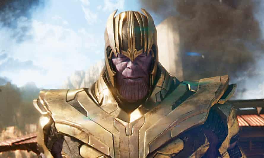 Josh Brolin as Thanos in Avengers: Infinity War (2018).