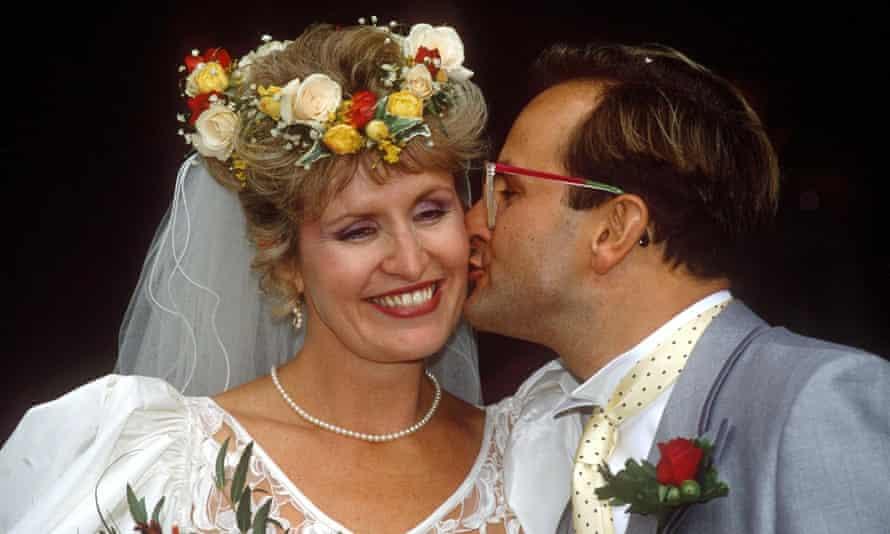 Timmy and Lynda Mallett at their wedding in 1990