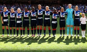 Team GB line up before facing Cameroon at the 2012 Olympics.