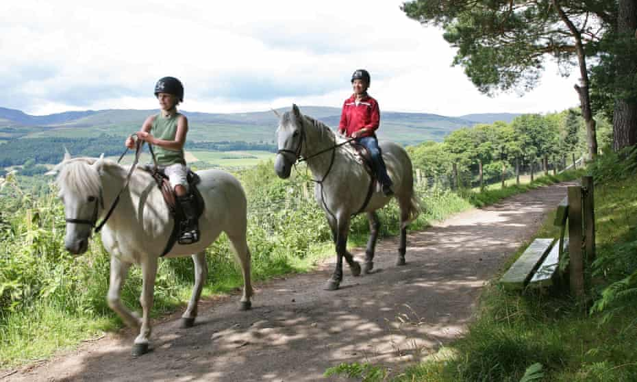 The Scottish countryside is perfect for pony and horse rides.