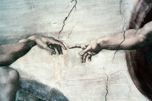 Detail from Michelangelo's Creation of Adam