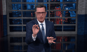 'If Trump ever has to testify under oath in front of Mueller, just bring in a helicopter' ... Stephen Colbert