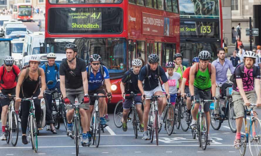 Cyclists in London. 'Whatever you think of Boris Johnson he is the most obviously pro-cycling mainstream politician in the UK.'
