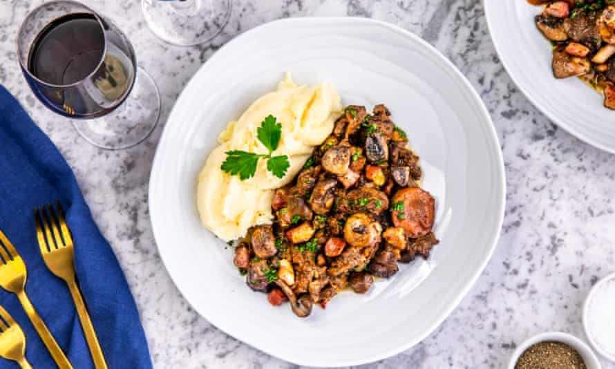 'It's a proper serving for two of me': beef bourguignon.