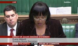 Abbott responds to the Javid's statement on Assange.
