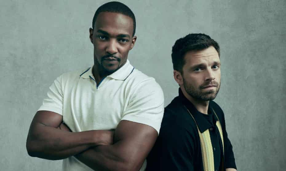 Brothers in arms ... Anthony Mackie and Sebastian Stan.