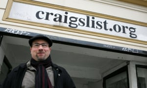 Craig Newmark, the founder of Craigslist, which has recently shut down its renowned 'personals' section.