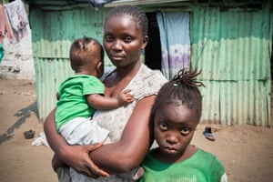 12 year old Blandine, a suspected case of yellow fever, with her aunt, Leonie