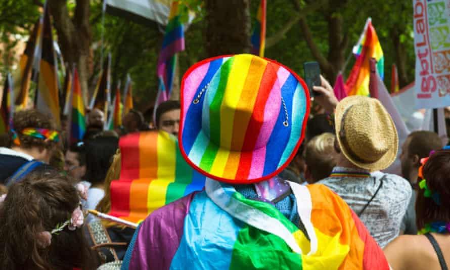 Preparations for the Bristol Pride parade in 2017.