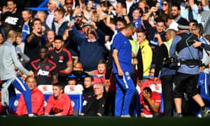 "Premier League - Chelsea v Manchester United<br>Soccer Football - Premier League - Chelsea v Manchester United - Stamford Bridge, London, Britain - October 20, 2018  Chelsea assistant coach Marco Ianni celebrates their second goal in front of the Manchester United bench  REUTERS/Dylan Martinez  EDITORIAL USE ONLY. No use with unauthorized audio, video, data, fixture lists, club/league logos or ""live"" services. Online in-match use limited to 75 images, no video emulation. No use in betting, games or single club/league/player publications.  Please contact your account representative for further details."