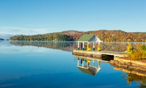 Dock, Lake of Bays, Muskoka, Ontario, Canada
