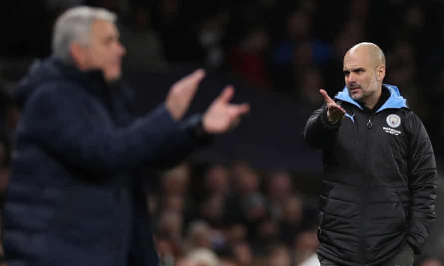 Pep Guardiola complained that José Mourinho 'accused us of something we have done that is not true'.