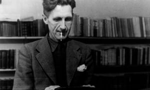 George Orwell At A TypewriterCaption: George Orwell, British writer and journalist, at a typewriter (Photo by Mondadori Portfolio via Getty Images)