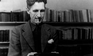 George Orwell At A Typewriter