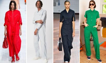 Boilersuits by Hermès, MC Overalls, Jil Sander, LF Markey