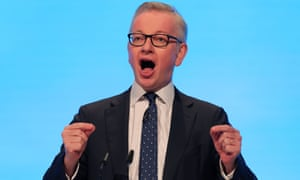 Michael Gove addressing the Conservative party conference in September.