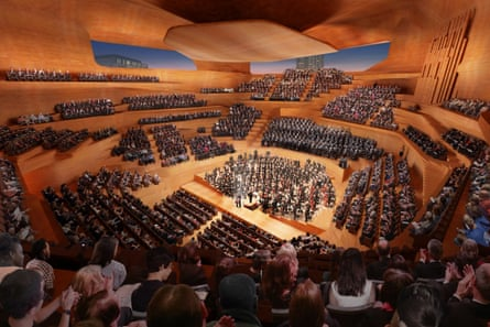 The concept design for the Centre for Music in London.