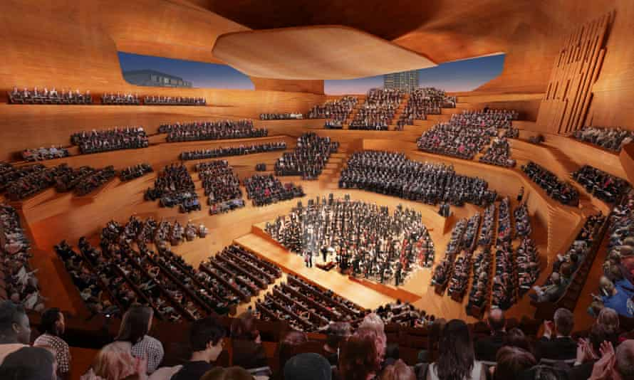 An artist's impression of London's Centre for Music.