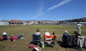 Spectators watch Yorkshire v Surrey at Scarborough this week.