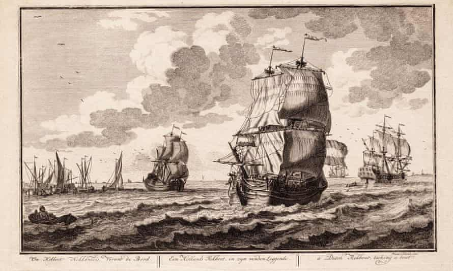 An image from 1716 of a ship likely to have been similar to the Rooswijk