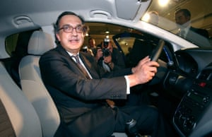 Sergio Marchionne promoting the new Fiat Punto in 2005.