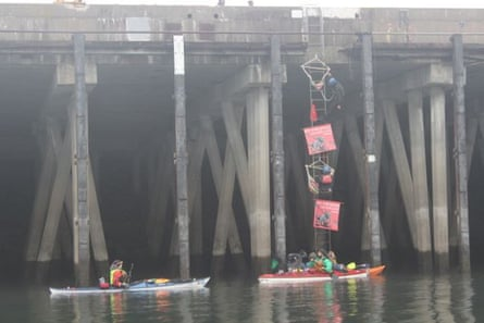 Scenes from Trans Mountain pipeline extension protest in Washington state