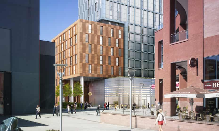The planned Belgrade Plaza student accommodation development in Coventry.