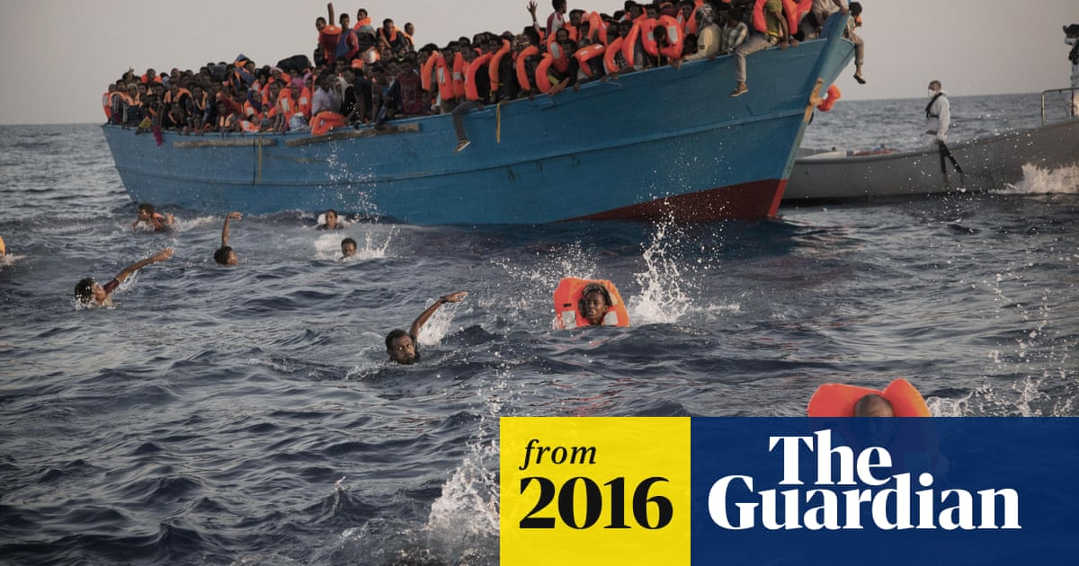 Migrants rescued at sea off Libyan coast – video | World