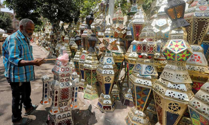 Ramadan lanterns at a shop in Cairo, Egypt
