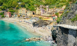 Monterosso al Mare in the Cinque Terre, where authorities have put a limit on tourist numbers.