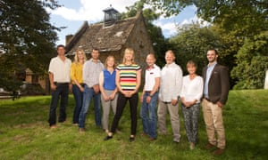 Sara Cox and the participants on Love in the Countryside