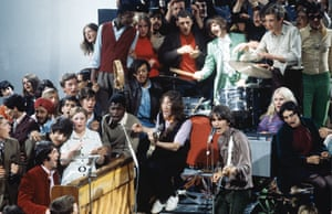 Photograph of the Beatles and crowd