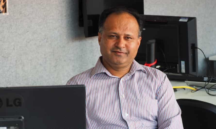 Prof Ali Babar at the Ingkarni Wardli building at the University of Adelaide.