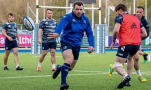 Cian Healy in Leinster training.