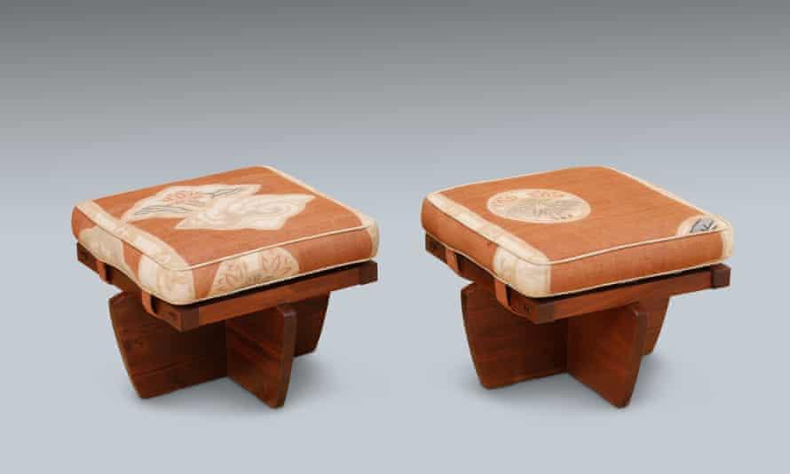 Greenrock ottoman – a design created for Nelson Rockefeller's Japanese house in Pocantico Hills, New York.