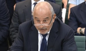 Sir Philip Green gives evidence to the Commons business select committee on the collapse of BHS in June.