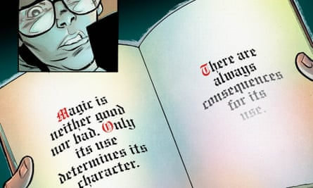 The dark-haired, bespectacled boy magician, Tim Hunter, from Sandman Universe: The Books of Magic