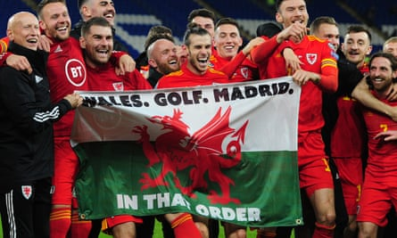 Wales celebrate with that flag.