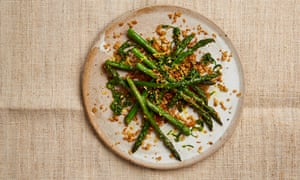 The crunchy side: Yotam Ottolenghi's asparagus with pine nut and sourdough crumbs.