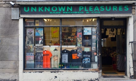 Unknown Pleasures record shop, on the Royal Mile, Edinburgh