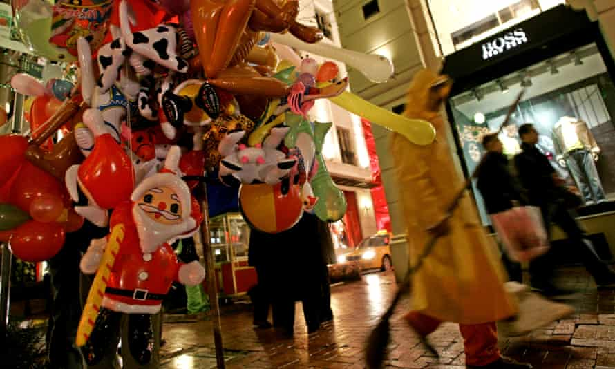 Even in predominantly Muslim Turkey, Christmas has become a prime shopping season.